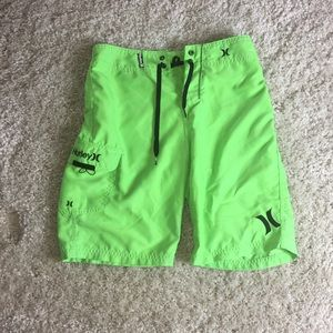 Hurley Mens Board Shorts Lime Size 25